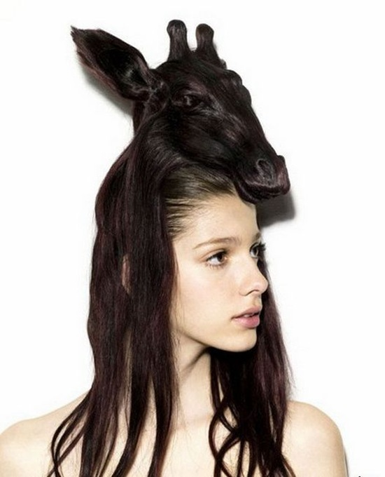 rambut model kepala jerapah