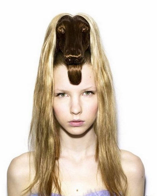 rambut model kepala kambing